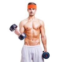 Ter bandı harika! Yüksek Elastik Spor Kafa Yoga Streç Headwrap Hairband Saç Spor Koşu Aksesuarları Bant Kuru
