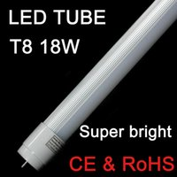 Tubo a LED 4ft 1200mm T8 Light High Super Bright 18W 1.2m 22W 120cm Cover Latte Lampadine fluorescenti AC110-240V Illuminazione bianca calda