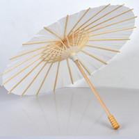 60 piezas boda nupcial sombrillas paraguas de papel blanco chino Mini artesanía paraguas diámetro 20,30, 40,60 cm