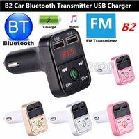 Transmisor FM multifunción B2 inalámbrica Bluetooth USB titulares Car Kit Adaptador Reproductor de MP3 Cargadores mini tarjeta del TF Auriculares manos libres modulador