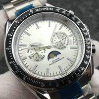 Armband Top Luxus Geschwindigkeit Mond mechanische Mens Designer-Edelstahl-automatische Bewegungs-Uhr-Sportuhren Selbst Wind Armbanduhren
