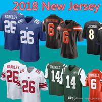 7ff478b5c 2018 Cleveland Browns 6 Baker Mayfield 21 Denzel Ward Jersey 80 ...