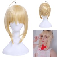 Fate FGO Extra Saber Nero Perruque Blond Clair Perruques Cosplay Perruque Braid Cheveux Style