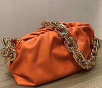 Newset Облако Форма Вечерние сумки Облако мешок с Толстые цепи сцепления женщин сумка из натуральной кожи клип сумки Crossbody Тотализаторы
