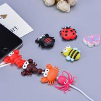 15 конструкций милый дизайн насекомых кабель зарядное устройство дата кабель защитная крышка для iPhone милый мультфильм животных зарядка шнур защитная крышка