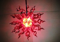 Italian Foscarini Chandelier Red 100% Hand Blown Glass Free ...