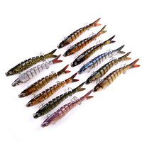 Swimbaits Multi Jointed Lure 8 Segments Minnow Crank Swim Ba...