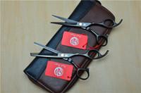 Sıcak Yeni 2 Setleri 4 adet / torba Saç Makas Çanta Kılıf Bel Paketi Kılıfı Tutucu Kuaförlük Araçları Deri Makaslar Saç Makas Kılıfı