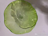 Arte decorativa Modern LED Crystal teto lâmpada Mão vidro soprado Forma da parede da flor Luz Murano Art Glass Lâmpada de parede
