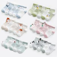 5 пар / компл. 0-2Y младенческой Детские носки для девочек хлопок сетки милый новорожденный мальчик малыш одежда аксессуары