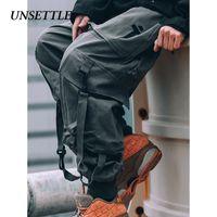 Тревожные японские боковые карманы брюки-карго стиль мужчины хип-хоп мужской Tatical брюки Мужские бегуны повседневная уличная одежда Брюки