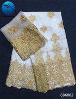 Ткань Люуланьжи белый африканский базин Riche с бисером последние модные золотые вышивки кружева Net 7yards 6B60