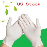 Guantes de Estados Unidos de DHL 100 piezas desechables de látex universal Cocina / Lavavajillas / / Trabajo / goma / guantes jardín izquierdo y la mano derecha