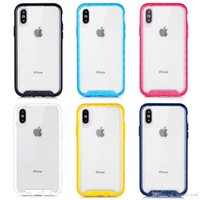Traction Series Funda protectora contra caídas Clear PC + TPU cubierta trasera de dos colores para iphone X XS XR XS MAX
