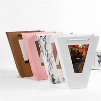Sacchetti regalo in PVC Vetrine trasparenti Sacchi avvolgenti Abbigliamento per fiori Avvolge Sacchetti di carta a mano Nuovo arrivo 2 25xm L1