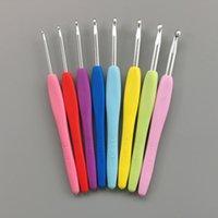縫製の概念ツールTPRハンドル針ニット織りのクラフトポータブルかぎ針編みフックアルミニウム編み針ヤーン8個/セット