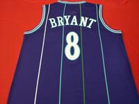 mamba Mor YEŞİL 8. K B OTANTİK nakış Basketbol Vintage kolej forması Boyutu dışarı S-XXL veya özel herhangi bir ad veya numara forması