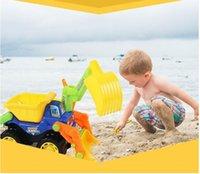 هندسة لعب الاطفال شاطئ الطفل لعبة شاحنة الأطفال البلاستيكية السيارات ألعاب تركيب بنين Diecasts SQW ZHW 001
