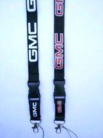 شحن مجاني - هوت GMC مزيج أسلوب الأزياء الشعبية شعار الحبل الحبل الهاتف سلاسل المفاتيح الرقبة الشريط بالجملة 10PCS