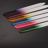 Хрустальное стекло пилочки для ногтей прочный Кристалл файл ногтей буфера NailCare Nail Art инструмент для маникюра УФ польский инструмент 140X12X3mm
