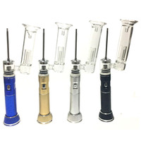 Портативный воск Pen E-CiGaret DAB Time Plus Plus Vax Vaporizer 2500MAH 18650 Стеклянная Bubble Water Bong Kits