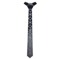 Nueva llegada del estampado de flores de diamantes de la vendimia espejo negro Hex Lazos de titanio Negro Espejo acrílico corbata de lazo de la moda de los hombres de accesorios Gafas