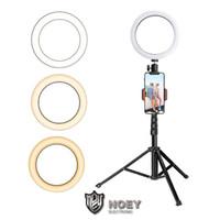 Luz de anel de LED com tripé esticável Stand Selfie vara de 6 polegadas de 8 polegadas de 10 polegadas Mesa de piso de 10 polegadas Lâmpada anular para maquiagem de selfie noey