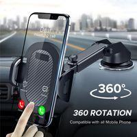 الزجاج حامل الهاتف الجاذبية المصاص سيارة للحصول على دعم الهاتف العالمي للحصول على الهاتف الذكي 360 درجة سبين جبل حامل