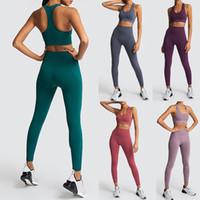 das mulheres sem emenda Yoga Suit Sportswear aptidão esporte para mulheres corredor da ginástica Set 2 peças do traje para Yoga Sports Bras leggings + Define MX200329