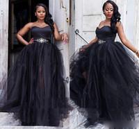 Artı Boyutu Sevgiliye Siyah Gelinlik Modelleri Kristal Örgün Abiye giyim Suudi Arapça Vestidos De Gala Parti Balo Elbise