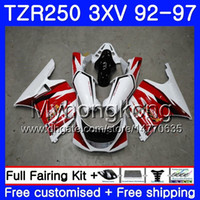 키트 YAMAHA TZR 250 3XV YPVS TZR-250 92 93 94 95 96 97 245HM.0 TZR250RR RS TZR250 1992 1993 1994 1995 1996 1997 페어링 팩토리 적색 흰색