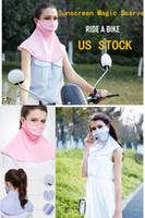 EU Stock Bandan Pescoço polainas Magia Lenços Mounteering Ciclismo Outdoor Sunscreen Proteção Scarf Mulheres equitação Camping FY6245 Máscara Designer