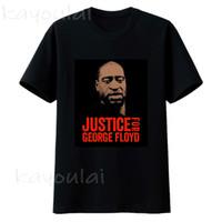 أنا لا أستطيع التنفس رسالة طباعة T قميص العدالة لجورج فلويد الأسود حياة المسألة تي شيرت الرجال قصيرة الأكمام التي شيرت فضفاض O الرقبة