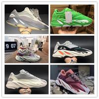 2019 700 Wave Runner Malva Kanye West Boost Wave Zapatos estáticos Hombres Mujeres Negro Blanco Azul Gris Diseñador deportivo Zapatillas de deporte