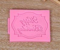 새로운 식당 생일 축하 편지 형태의 실리콘 몰드 초콜릿 퐁당 케이크 장식 도구 금형을 먹고
