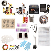 WORMHOLE TATTOO Kit Completo 2 metralhadoras Shader Liner com agulhas Power Supply