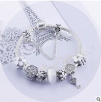 الأزياء 925 الفضة الاسترليني الأبيض كريستال مورانو lampwork الزجاج الأوروبي سحر الخرز القلب استرخى يناسب باندورا سحر أساور قلادة b8