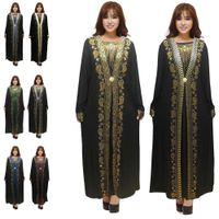L'Islam musulmano nero Abayas Robe per abiti Dubai donne turche caftano Turchia Abbigliamento islamico Malesia takchita djellaba Jilbab Caftano 2020