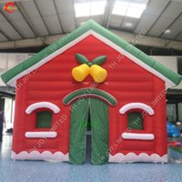 8x5x4.5 ملليه العملاقة نفخ سانتي هاوس للبيع التجارية رخيصة الثمن نفخ منزل عيد الميلاد نفخ خيام غائب سانتا