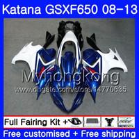 Bodys Para SUZUKI KATANA GSX650F 2008 2009 2010 2011 2012 2013 303HM.44 GSX 650F GSXF650 GSXF 650 08 09 10 11 12 13 Fábrica azul quente Carenagem
