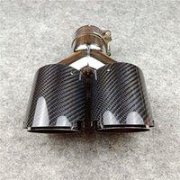 Modificación dual de acero inoxidable de acero inoxidable Universal Silffler Pipe Tablero doble cola para accesorios para automóviles de golf BMW