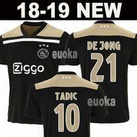 80a593475 New 2019 Ajax away Soccer Jersey 18 19 Ajax away balck Soccer Shirt 2018 DE  JONG TADIC KLAASSEN HUNTELAAR NOURI football uniform men kids