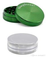 DHL grátis 30 40 50 55 63 75mm 2 Peças sharpstone Grinder Tobacco Grinder Herb Grinder CNC Dentes de filtro Net seco Herb vaporizador Pen 7 Cores