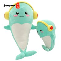 Creative Doll Headphones Dolphin Plush Toy Doll Customized F...