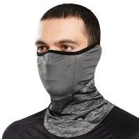Anti-UV Bandana Ciclismo verano de la mascarilla del paseo Ejecución de la bufanda de seda del hielo fresco de la venda