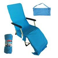 Magic Cool Quick Dry Chaise Serviettes De Plage Plage Serviette De Glace Bain De Soleil Chaise Longue Lit Jardin Jeux de Plein Air De Plage Chaise Couverture Serviettes CCA11688 5pcs