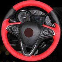 Bricolage cousu main Noir en cuir rouge volant de voiture Couverture pour Buick Envision