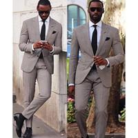 Hahnentritt Hochzeit Smoking Slim Fit Anzüge Für Männer Groomsmen Anzug Zwei Stücke Günstige Prom Formelle Anzüge (Jacke + Pants + Tie) 185