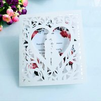 Wedding Invitation Cards Milky White Greeting Card Laser Hollow European Invitation Marriage Engagement Banquet Invitation