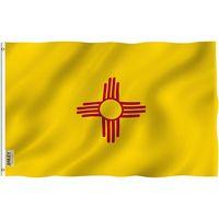 Staat New Mexiko-Flagge 3x5ft, Bedruckt Custom Alle staatlichen Druck Einseitiger Druck mit 80% Bleed, für Außendekoration